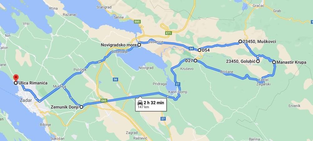 Mapa rute