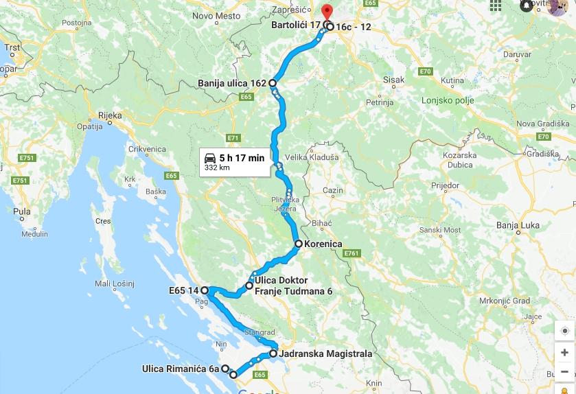 Vrijeme Na Dva Kotaca Od Zadra Do Zagreba Preko Karlobaga
