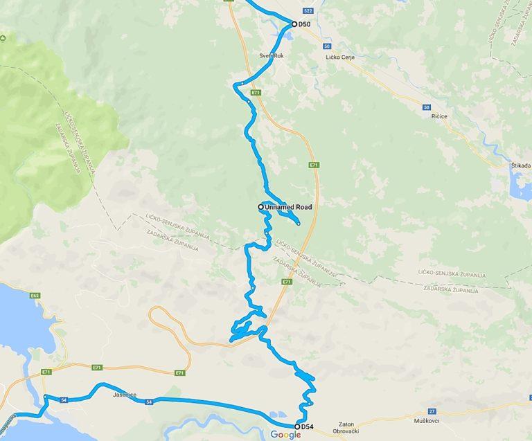 Mapa Majstorske ceste